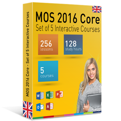 MOS 2016 Core - Set of 5 Interactive Courses
