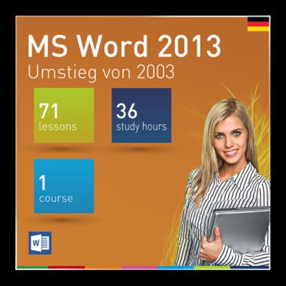 MS Word 2013: Umstieg von 2003